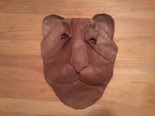 origami lion mask by pandaraoke