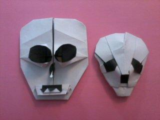 origami skull by pandaraoke