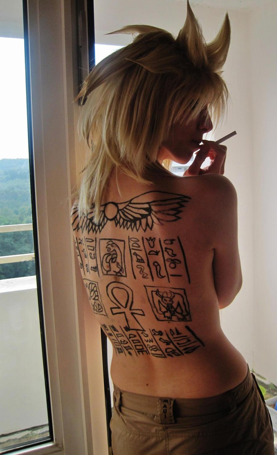 Marik Ishtar Tattoo by SheWolfOfMibu on DeviantArt