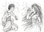 Sketch 41 -- young Shamans by ArhyaM