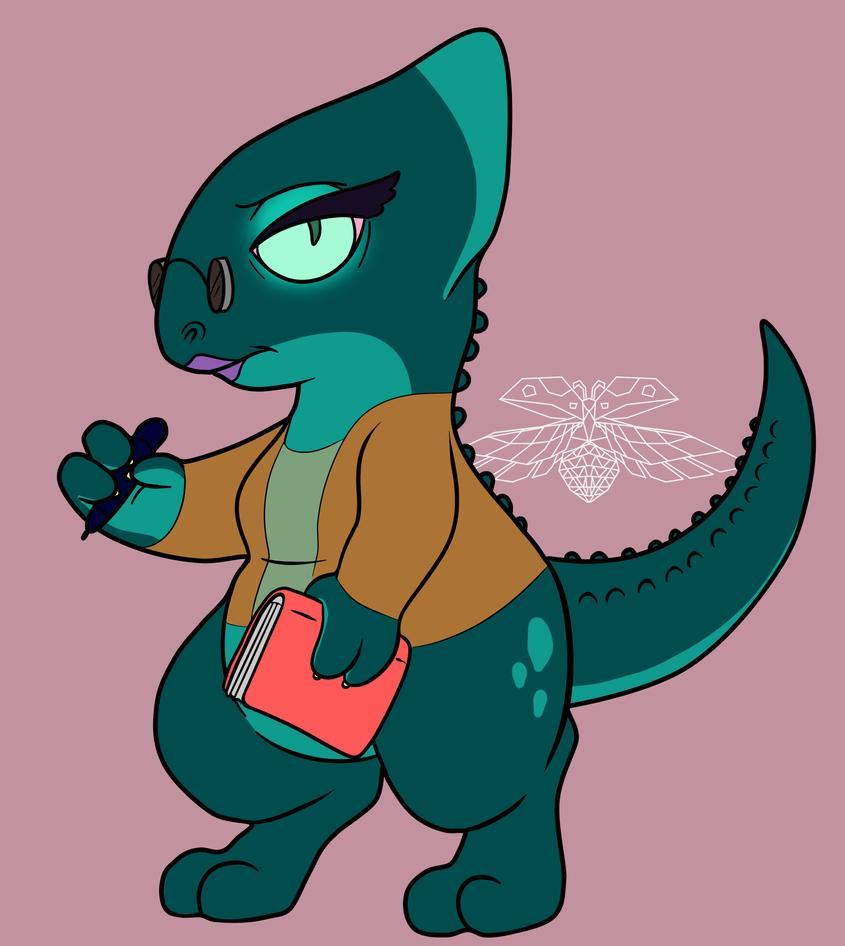 Lizard Librarian by o-Sparticaus-o