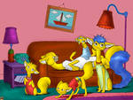 The simpsons cats
