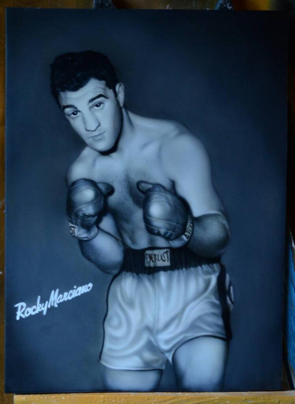 portrait of Rocky Marciano by Nelsonito