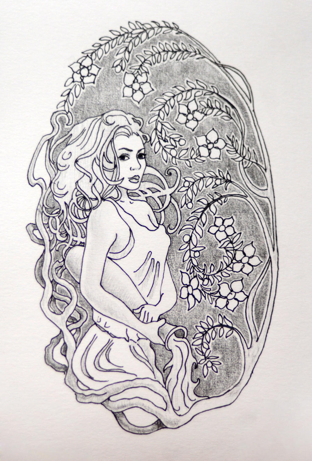 Aquarius tattoo sketch by Nelsonito