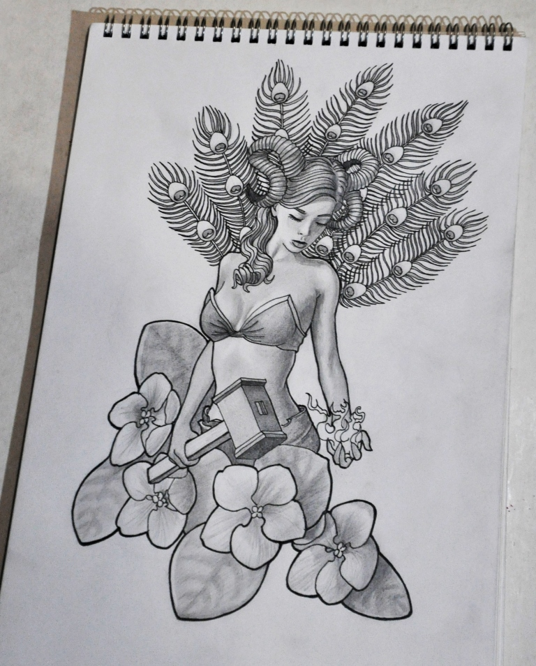 Zodiac tattoo sketches. Aries by Nelsonito