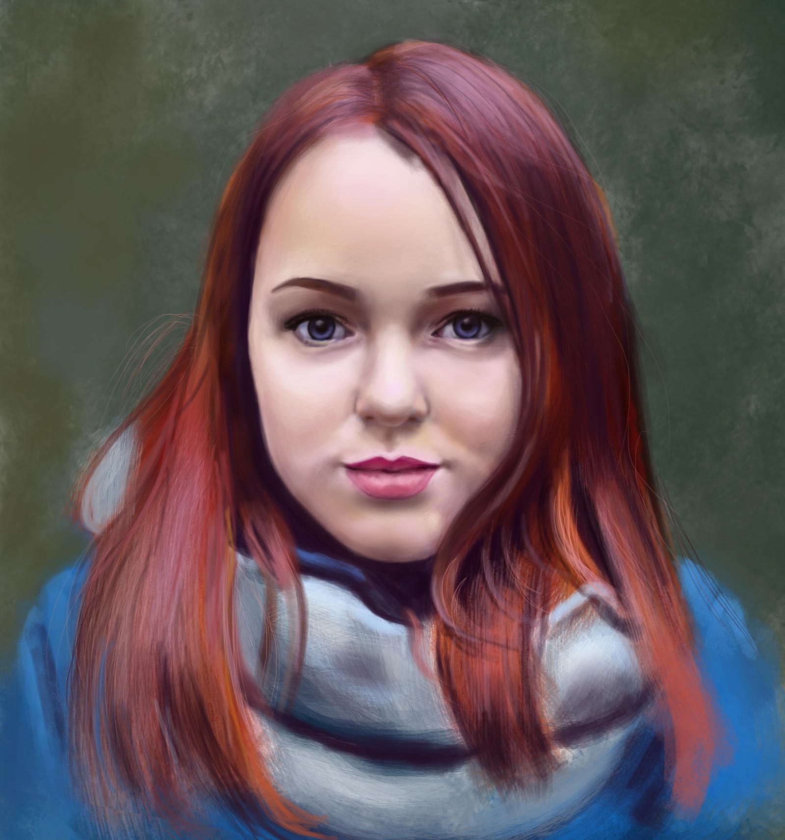 girls portrait. Study by Nelsonito