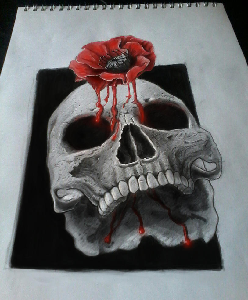 tattoo design skull by Nelsonito