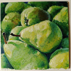 oilpaint pears by Nelsonito