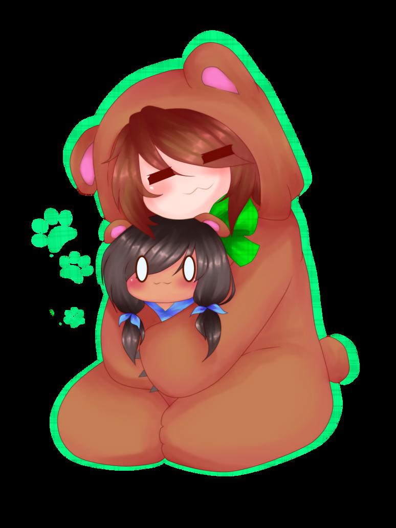 Bear Hugs by Rainbow-fiedKitty