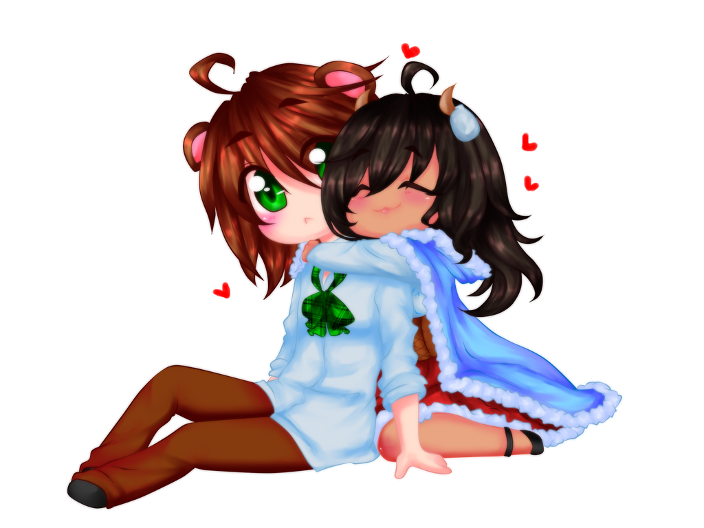 Snuggles! by Rainbow-fiedKitty