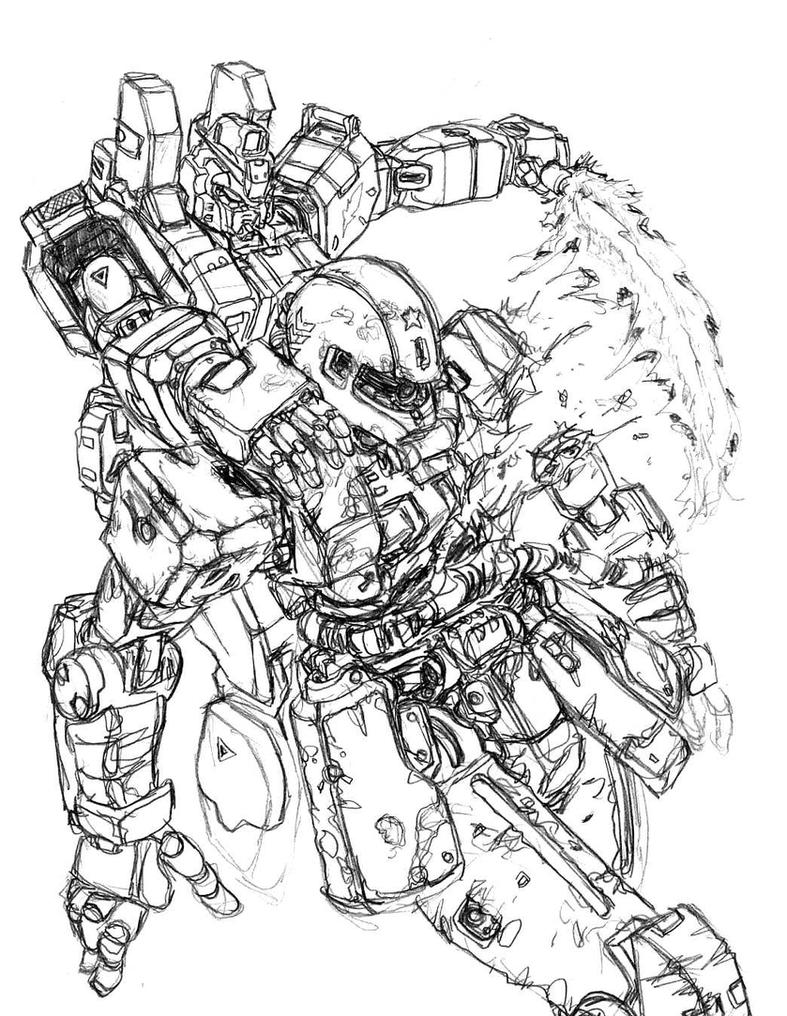 Zaku Lineart : Mp gundam vs zaku ii by almightynabeshin on deviantart