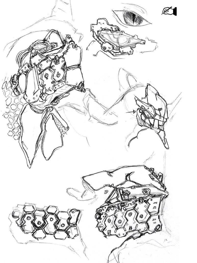 Head Armour Study II by AlmightyNabeshin