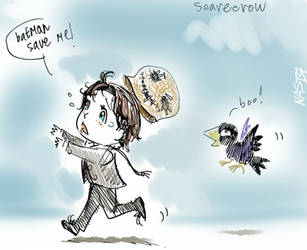 scared Scarecrow by TatianaOnegina