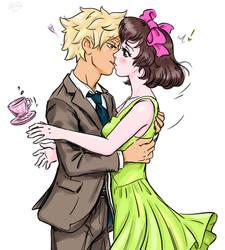 YCH comm. surprise kiss