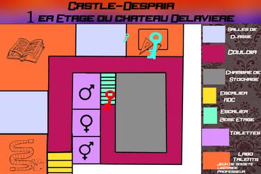 [Castle-Despair] Carte 1er Etage by MonoPeng