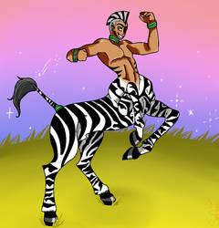 Kimbia the Zebra Centaur by KakashiUmino