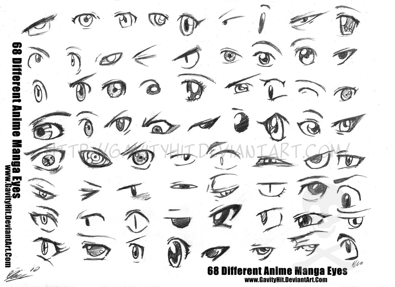 68 Different Anime Manga Eyes