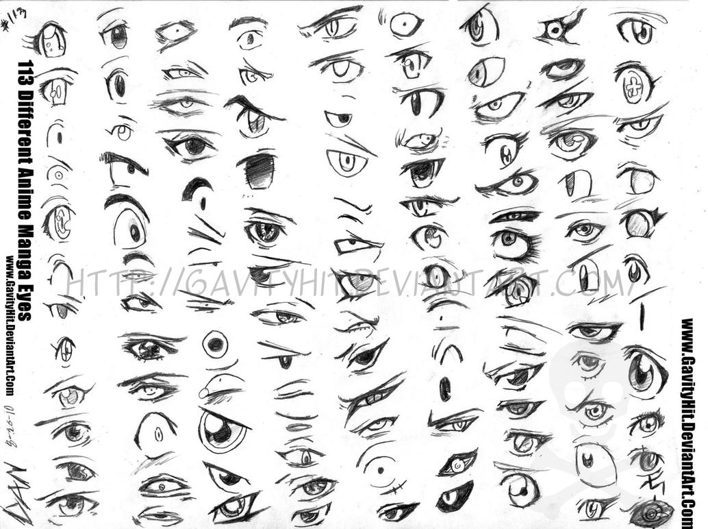113 Different Anime Manga Eyes By GH07