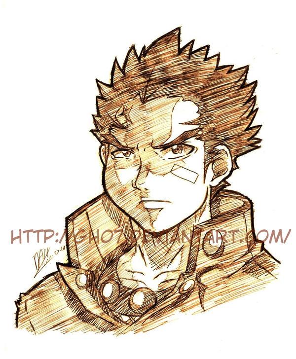 Batsu Bust Sketch by GH07