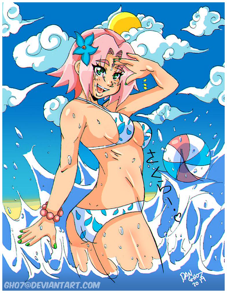 Beach Blue Sakura by GH07