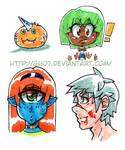 Manga Characters Copic Practice