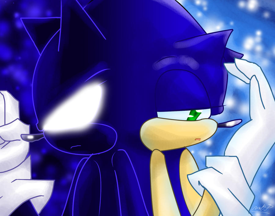 Dark Sonic and Sonic by DarkSonicSTHMC
