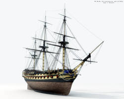HMS Agamemnon, 64 by Martocticvs
