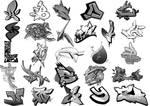 Graffiti alphabet brushes