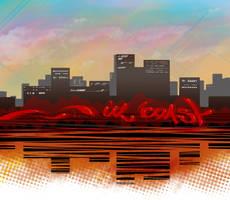 UZ coast skyline by adeptizm