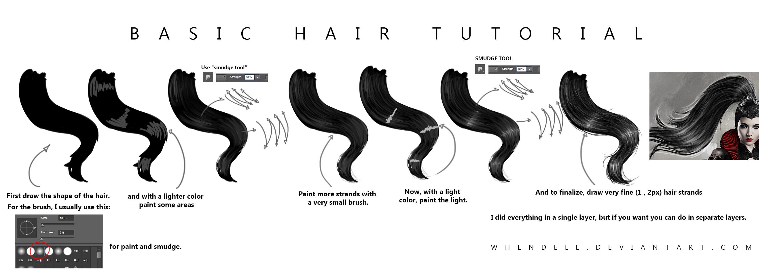 Basic Hair Tutorial by Whendell