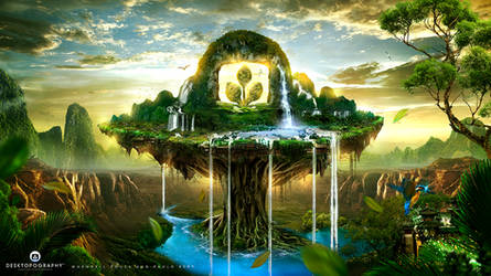 The Source Of Life - Desktopography 2014 by Whendell