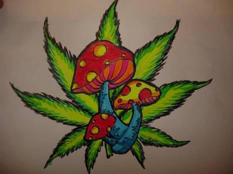 weed n' shrooms by nicolemarie2592