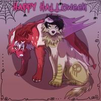 happy halloween love thullen by cosravet