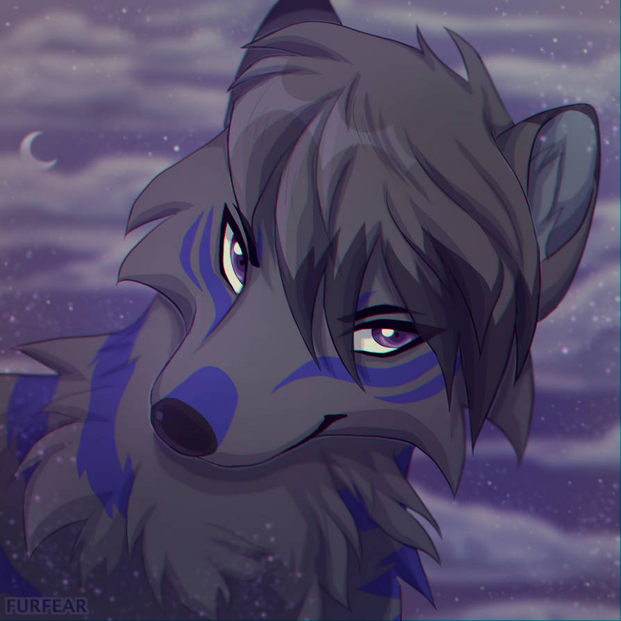 Emo anime wolf by cosravet