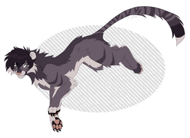 Akira as a tiger by cosravet