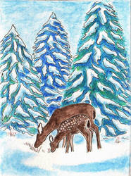 Holiday Card - Christmas Deer