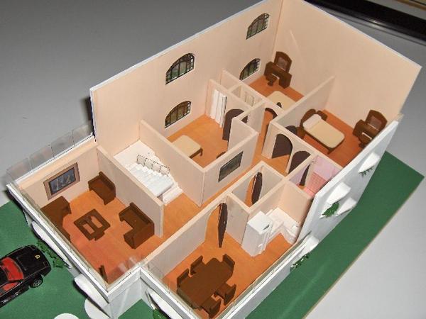 Maqueta casa habitacion by arqowa on deviantart for Crear habitacion 3d online