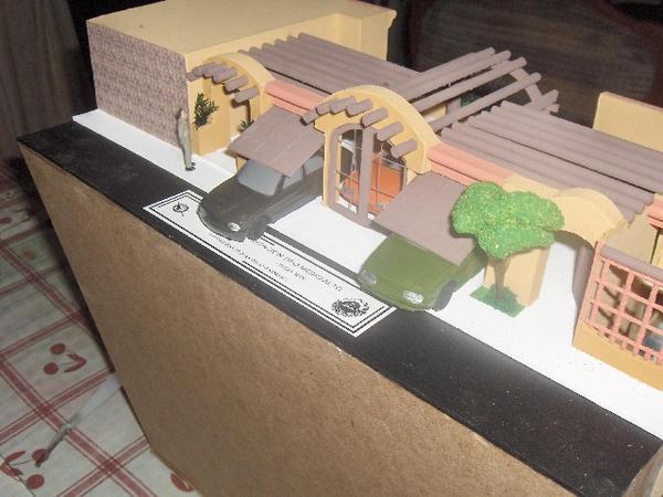 Maqueta casa desnivel by arqowa on deviantart - Como hacer una maqueta de una casa ...