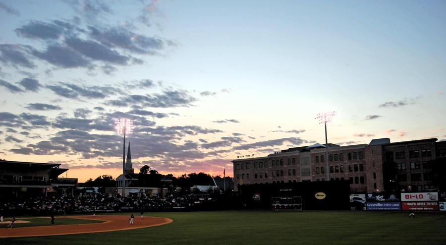 Greenville Drives sunset. by StillSouthern