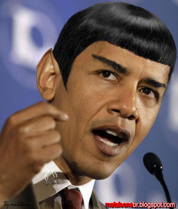 Resultado de imagem para obama spock