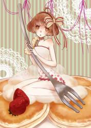 Pancake Girl by yasuhit0