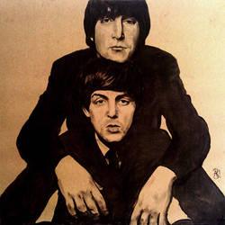 John Lennon and Paul McCartney by AdamBlakemore