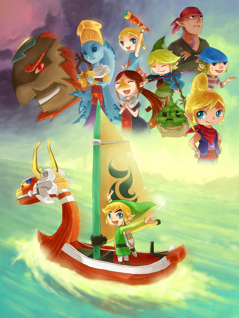 The Wind Waker by anokazue