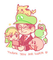 Thank you Satoru Iwata by anocurry