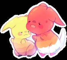 Bananie and Bericchi by Ichirozu
