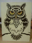 Owl - painting