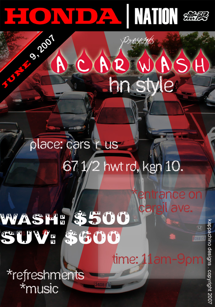 Honda Nation Flyer Car Wash By Kappachino