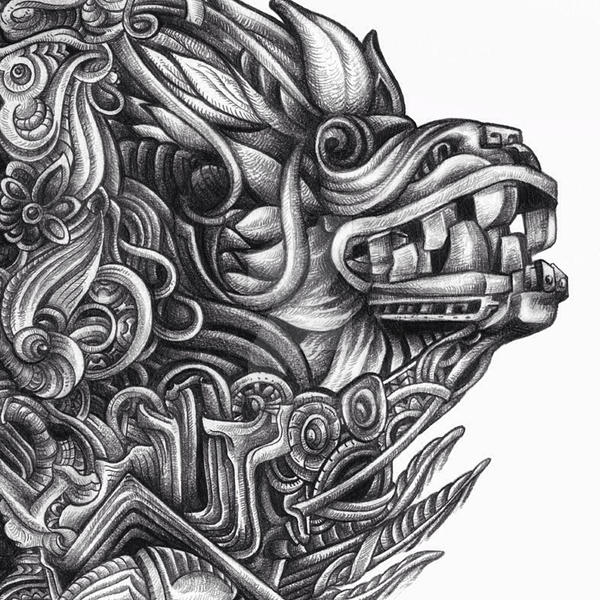 Detail of Quetzalcoatl by dehydrated1 on DeviantArt