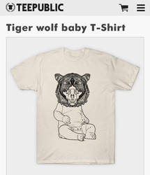 Tiger wolf baby by dehydrated1