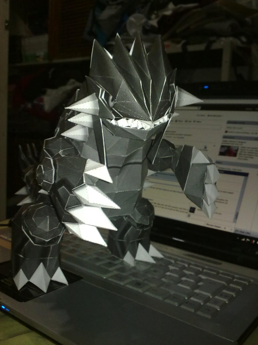 Groudon Papercraft by LightSnake